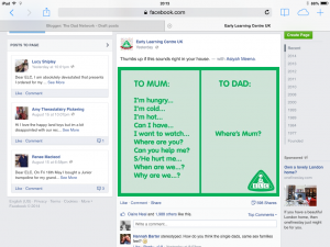 How the early learning centre insulted dads with a sexist and stereotypical Image, photo 2B2 300x2251%, new-dad%
