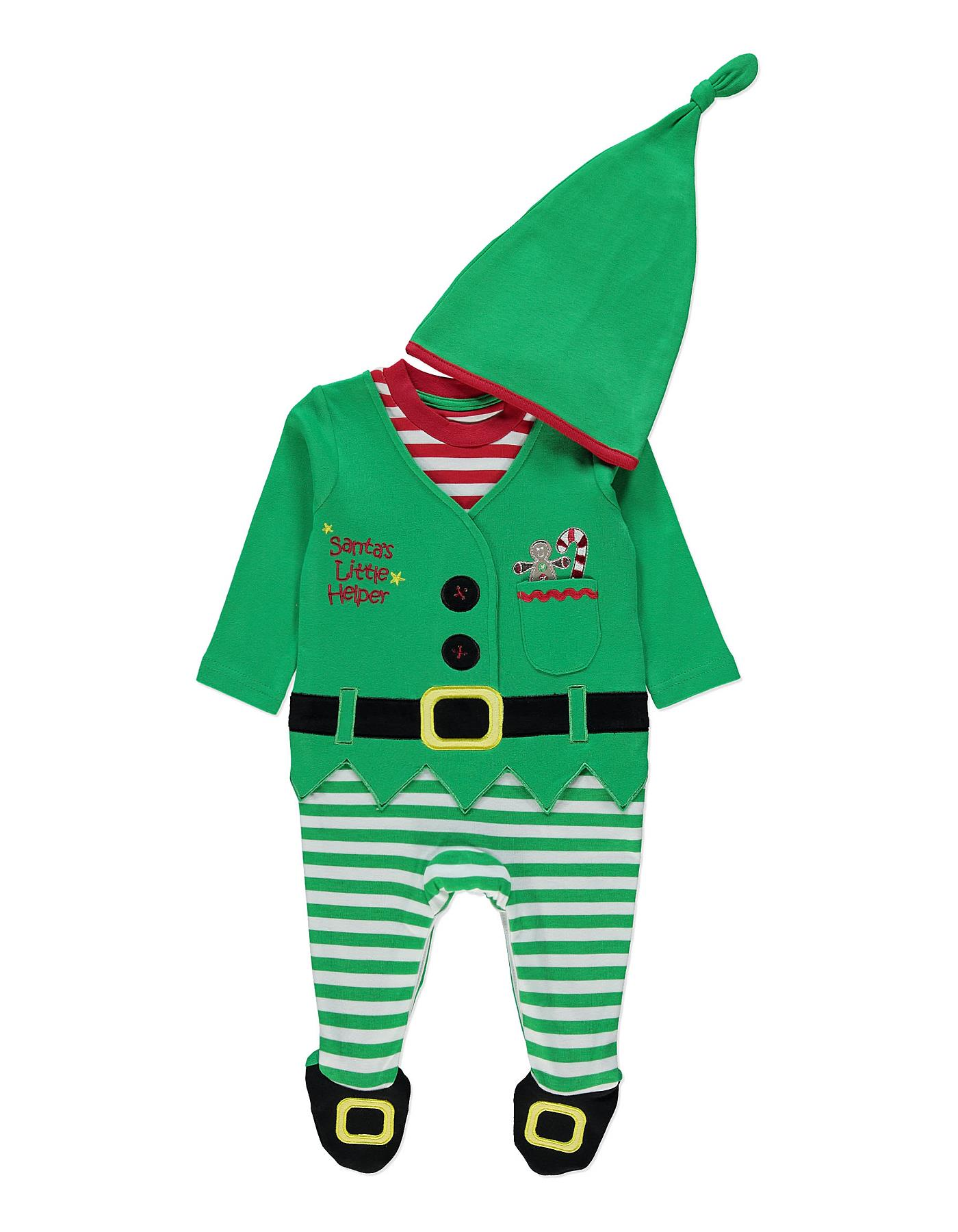 Santa's Guide to Cool Kids' Christmas Clothes, Green Santa%, new-dad%
