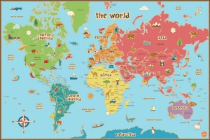 Most Wanted Christmas Gifts For Children 2014, World map 300x200%, new-dad%
