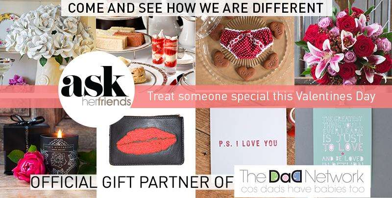 Welcoming Our Official Gift Partner - Ask Her Friends: Perfect Gifts For Her, Dad network banner valentines%, new-dad%