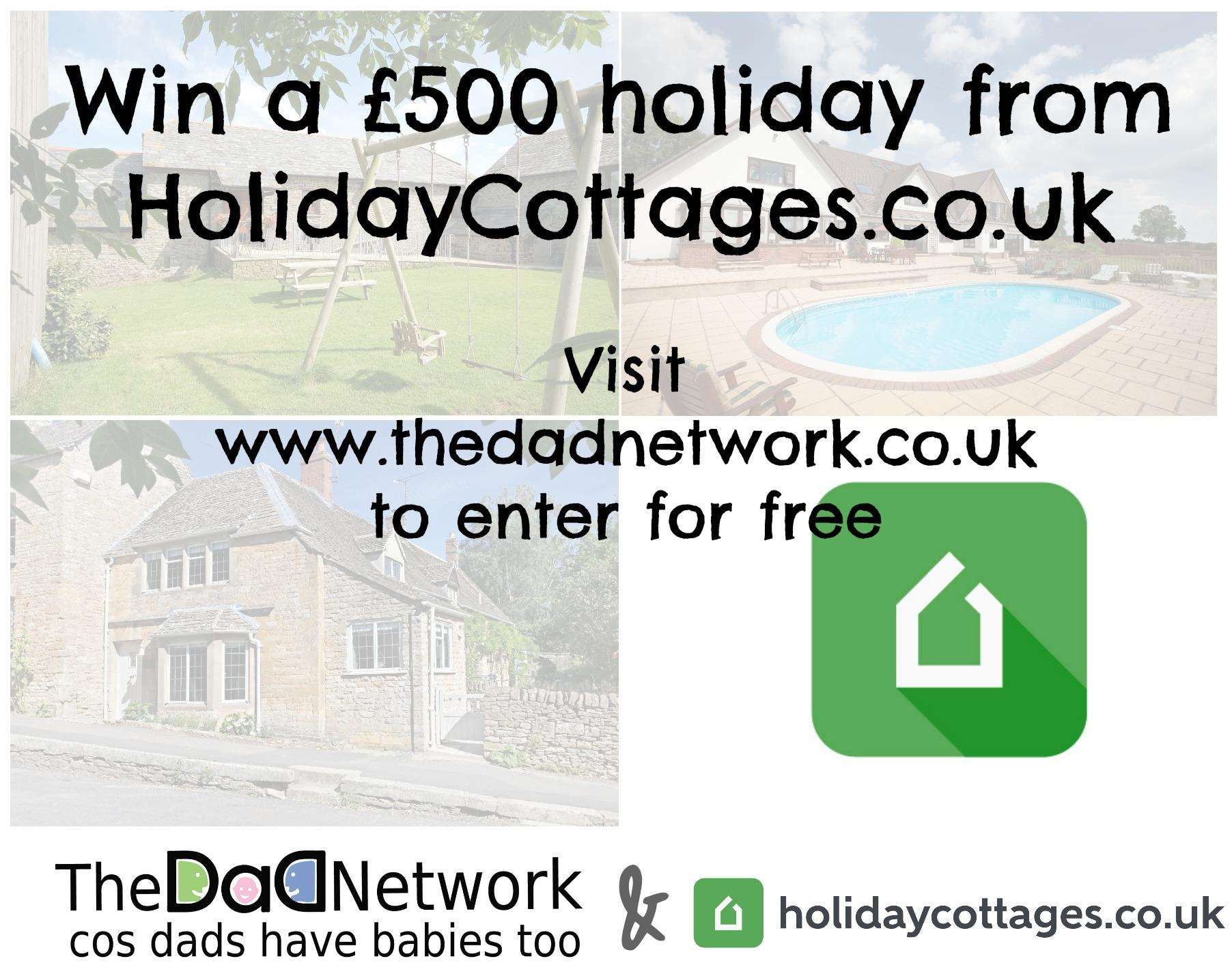 Win a Holiday worth £500 with Holiday Cottages - Ted's First Holiday, Holiday Cottages%, new-dad%