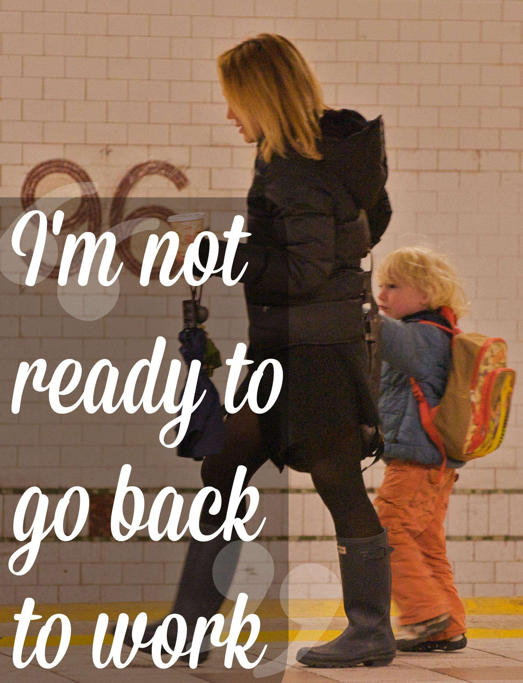 Going back to work after maternity leave - TheDadsNet