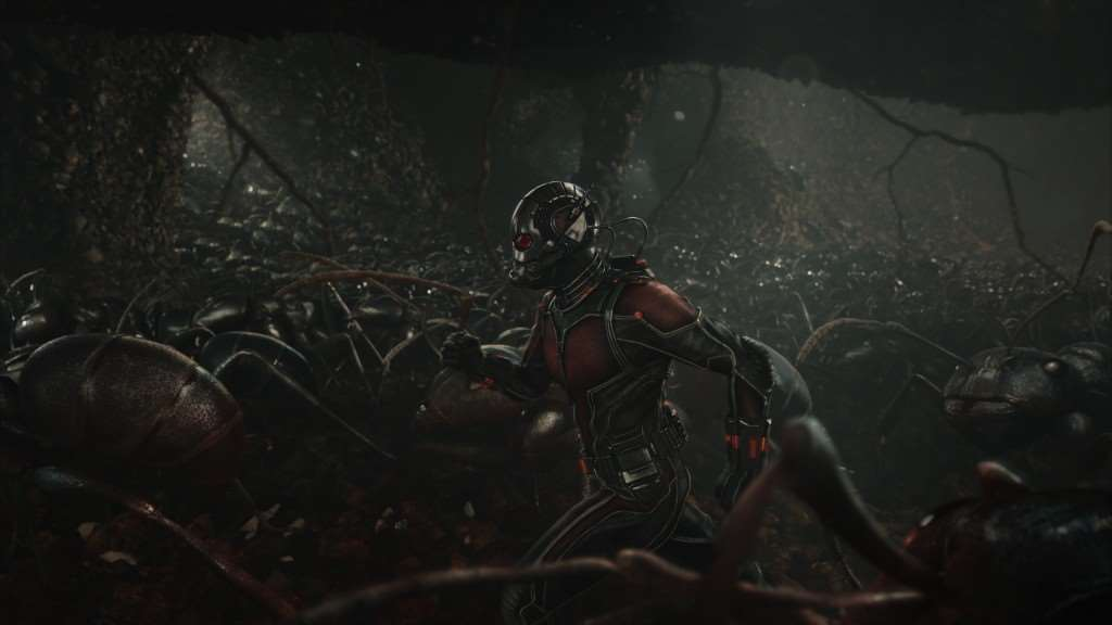 Marvel's Ant-Man..Scott Lang/Ant-Man (Paul Rudd) amongst his ants...Photo Credit: Film Frame..© Marvel 2015