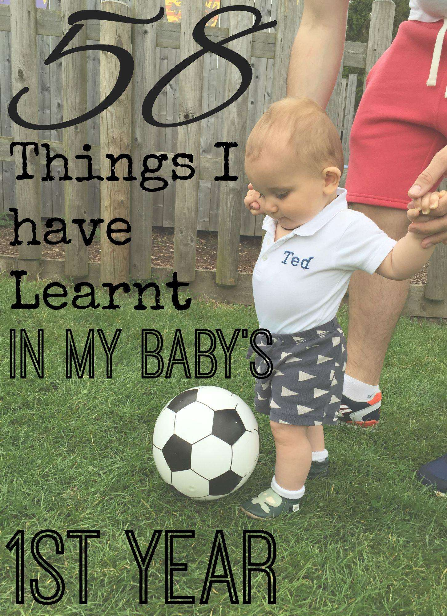58 Things I have Learnt in my Baby's first Year, Things I have learnt in my baby first year%, new-dad, 0-1%