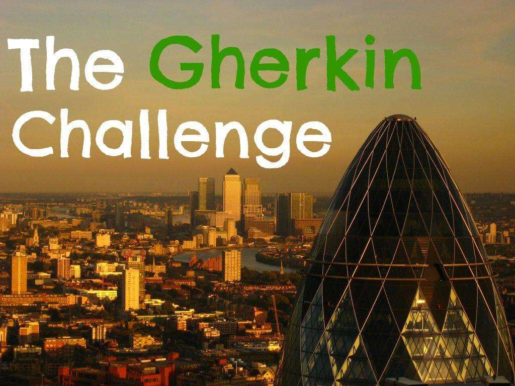 The Gherkin Challenge, Gherkin%, uncategorised%
