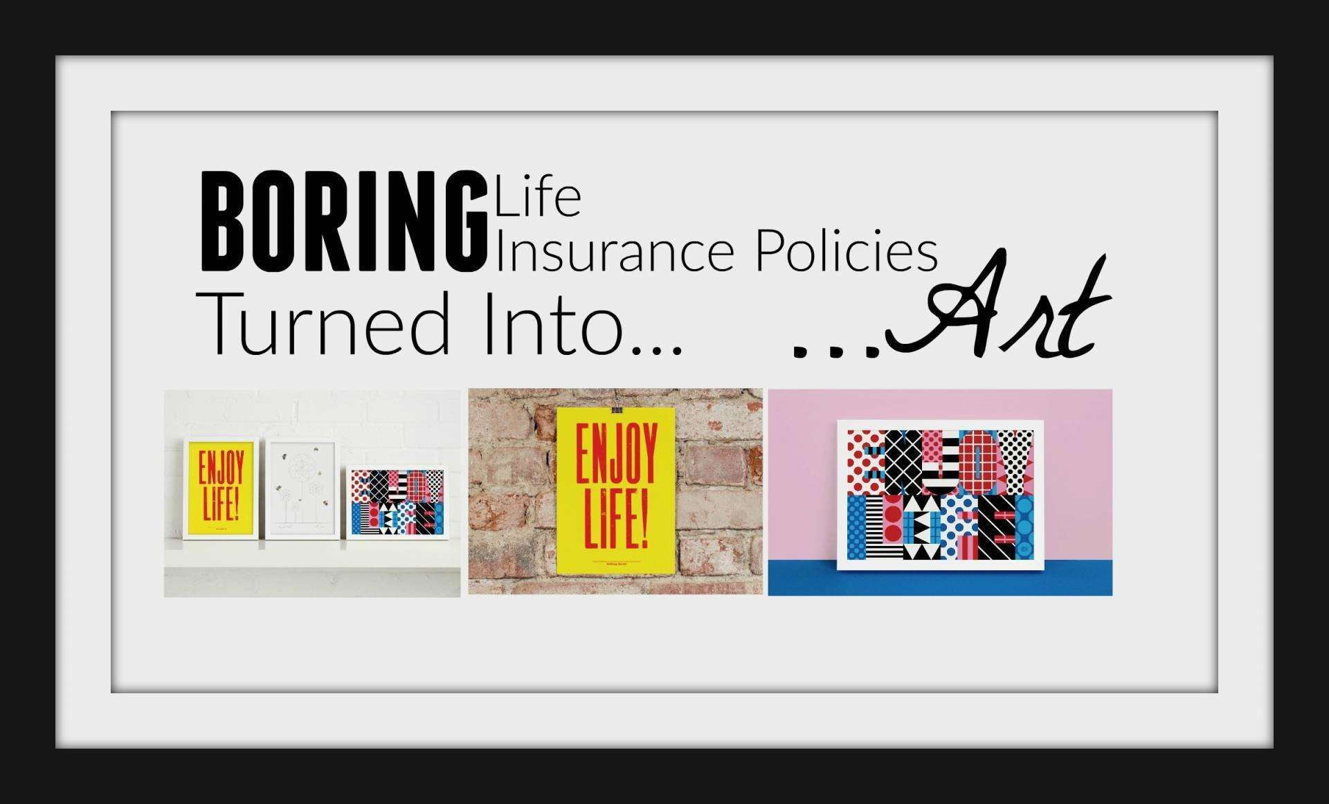 Boring Life Insurance Policies Turned into Art, Life insurance art featured1%, new-dad%