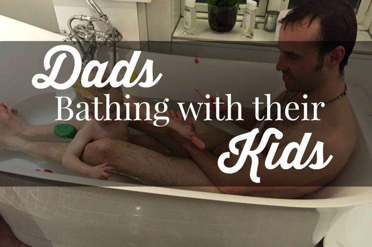 Torben Chris: Dads Bathing With Their Kids, Bathtime 1%, new-dad%