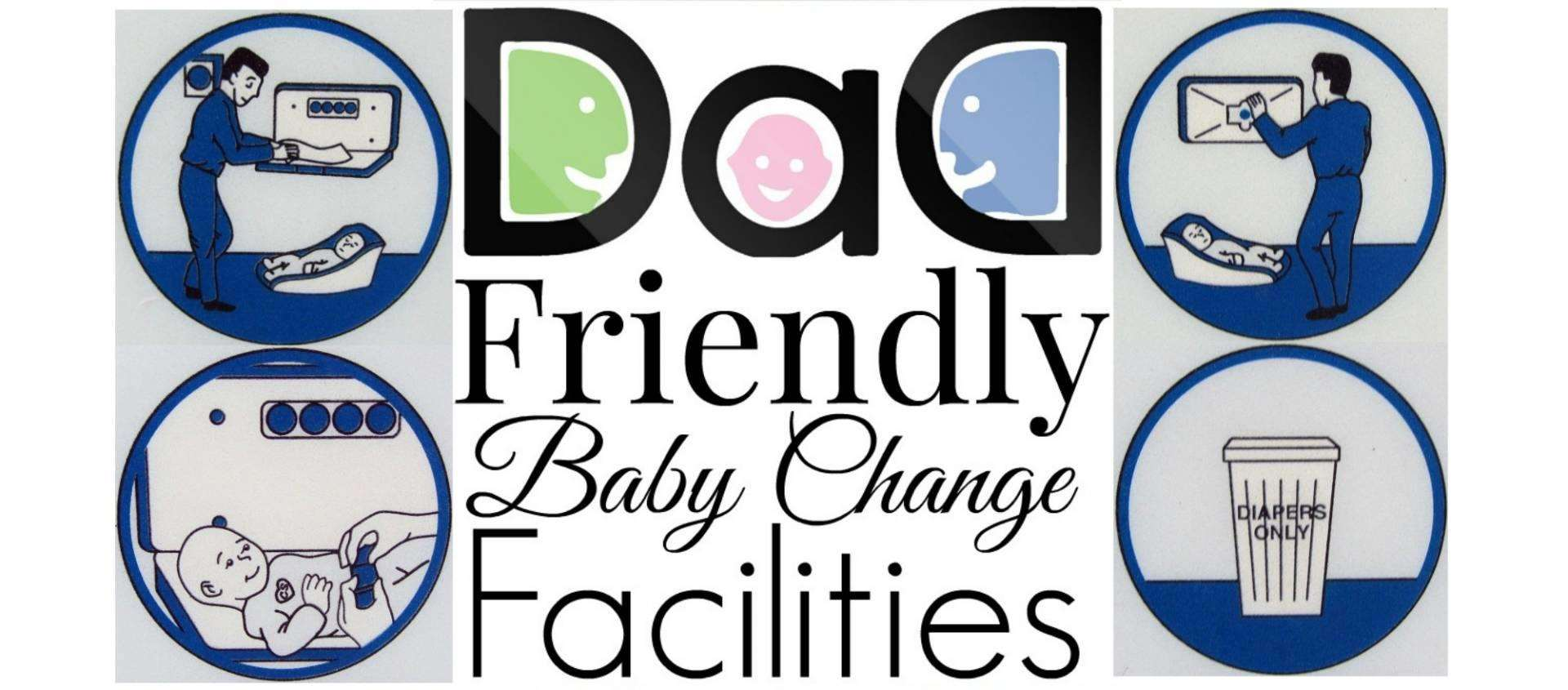 #dadsforchange Dad's can't change their baby's nappy in major UK restaurant chains, Dad Friendly baby change facilities FT%, new-dad%