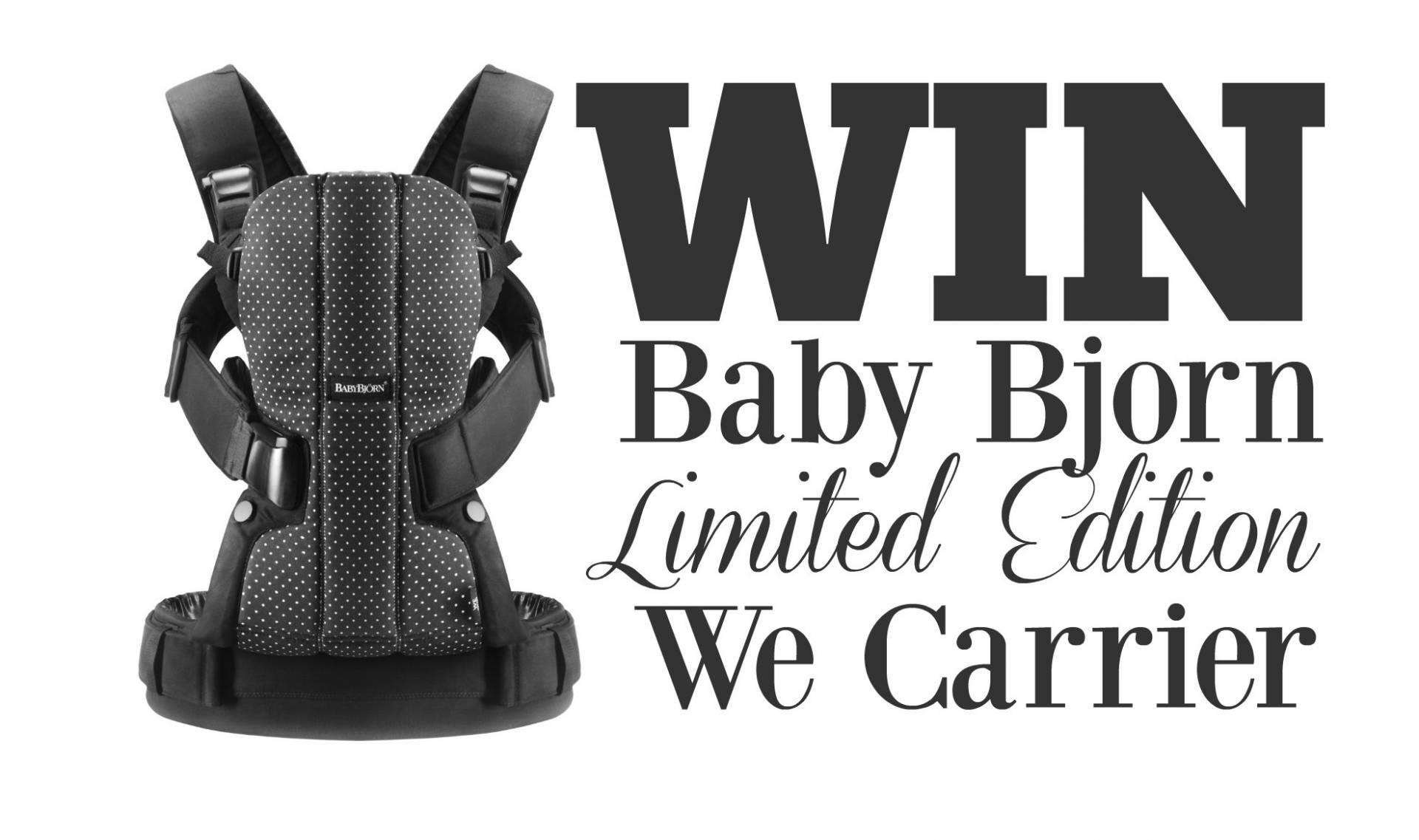Win a Limited Edition Baby Bjorn We Dots Carrier, Baby Bjorn We Carrier comp 1%, product-review%