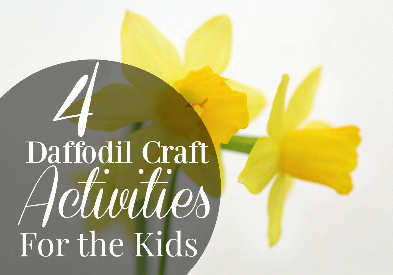 4 Daffodil Craft Activities for the Kids; Marie Curie's Daffodil Campaign, Marie Curie Daffodil %, community%