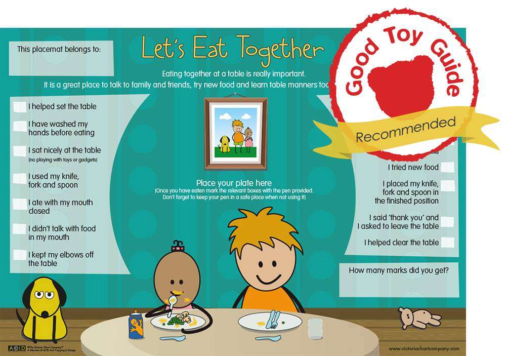 How to Encourage your Child to Eat at the Table, Lets Eat Together Placemat and toy guide award%, new-dad, lifestyle%