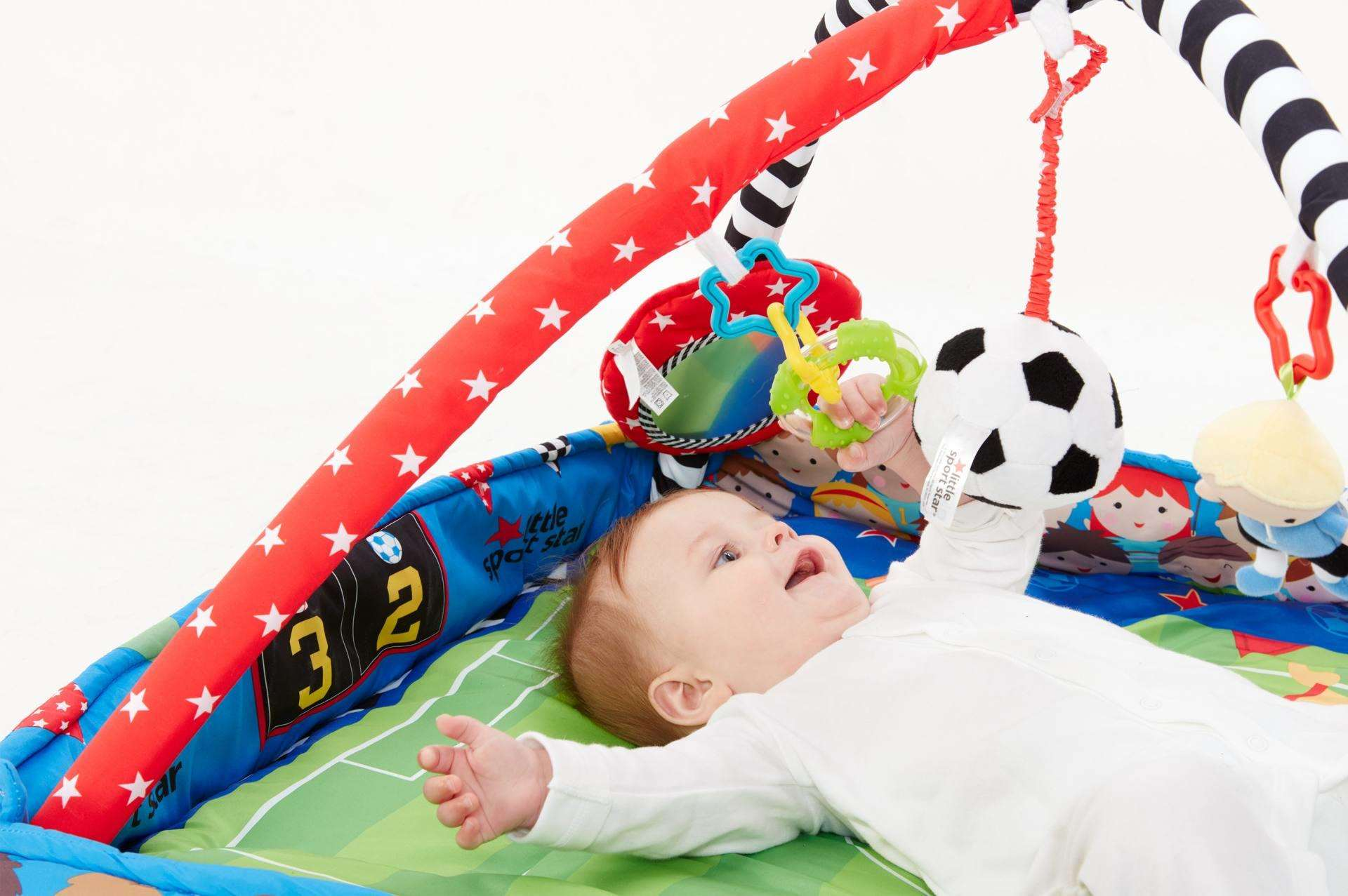 Feeling the Euro's? Get Kids Playing Sport from Newborn & WIN a football activity gym, LittleChamp Toy Shoot 2016053114502 72dpi sRGB%, lifestyle%