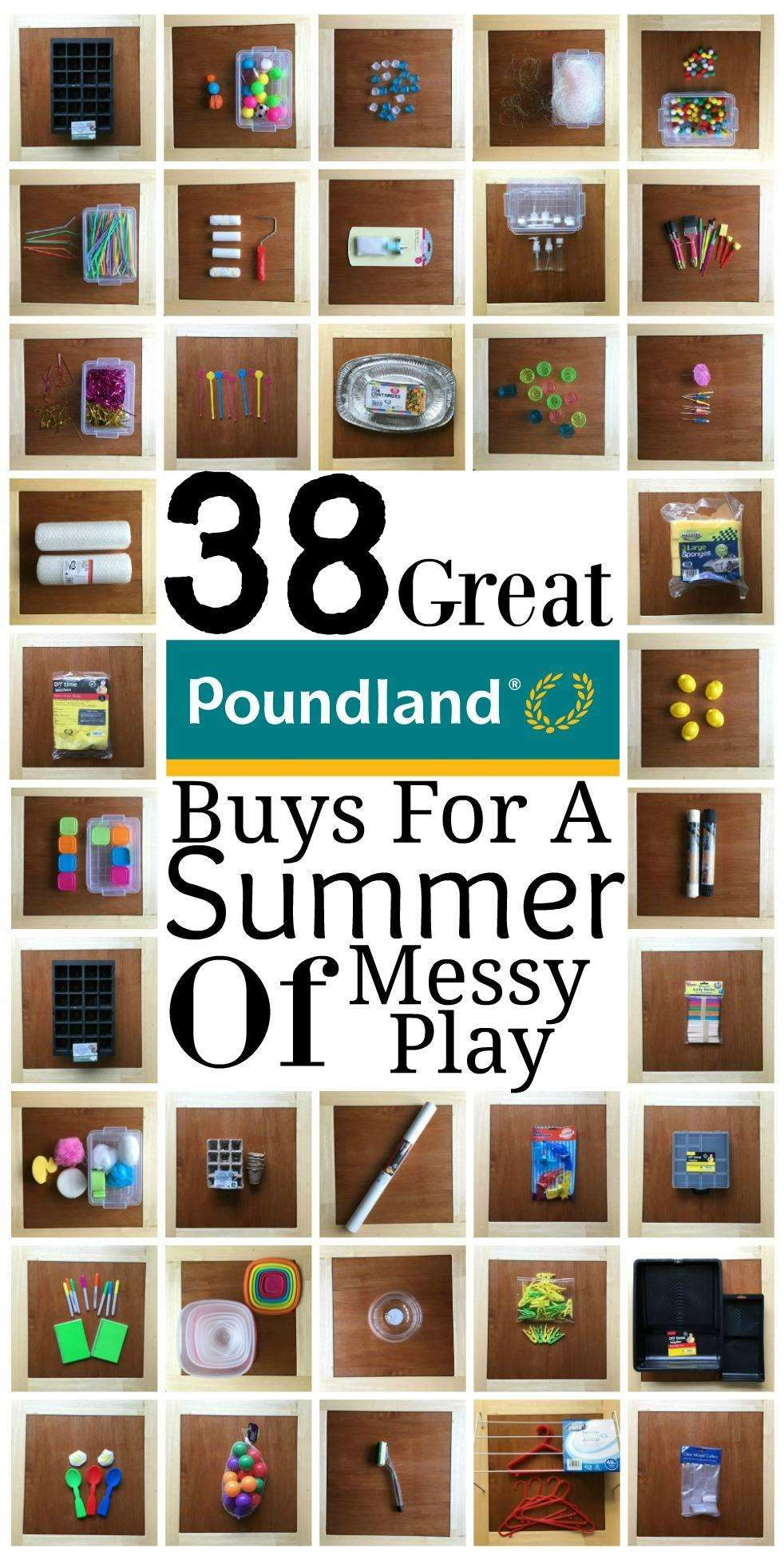 38 Great Poundland Buys for a Summer of Messy Play, Poundland Messy Play%, new-dad%
