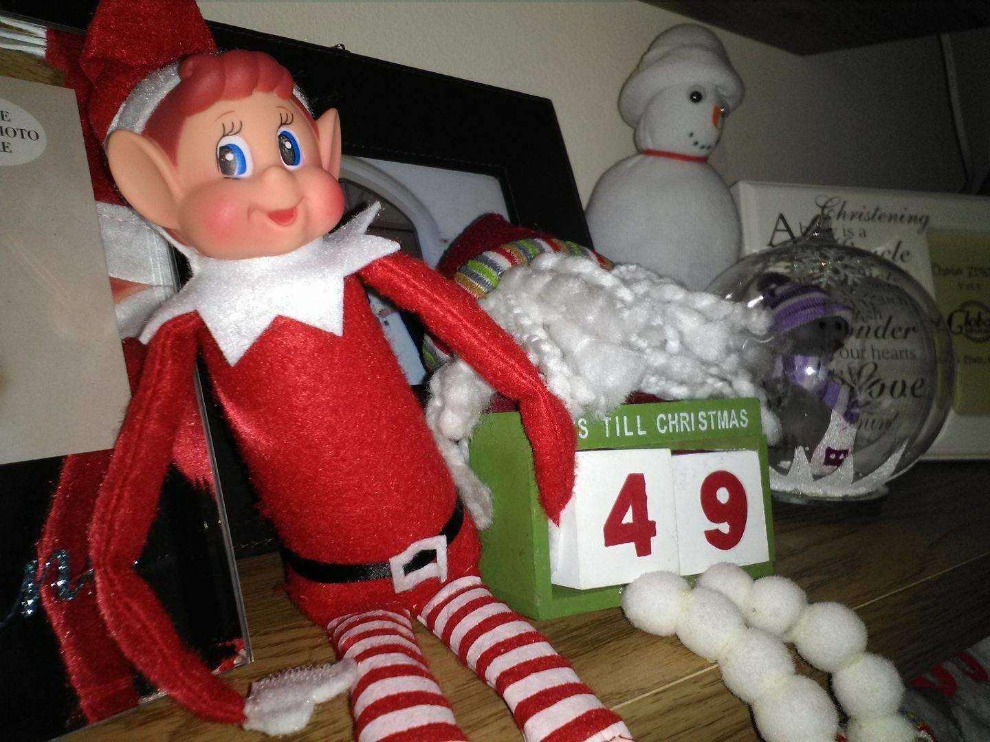 The Dad Network Guide to Elf on the Shelf, elf calender%, new-dad%