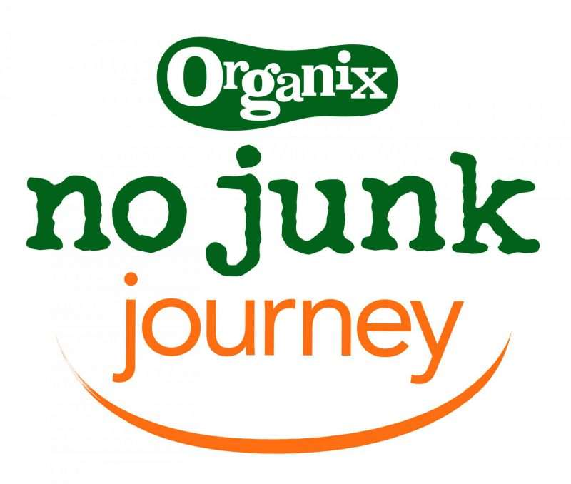 6 No Junk Playdate Food Tips, Organix NoJunkJourney Logo Orange 01 800x678%, new-dad%
