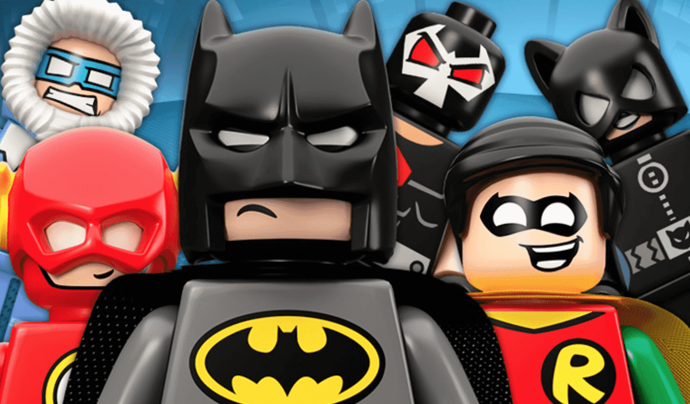 Lego Batman is pushed out by lego Robin