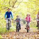 Daddy time, family in the park on bicycles 150x150%, uncategorised%