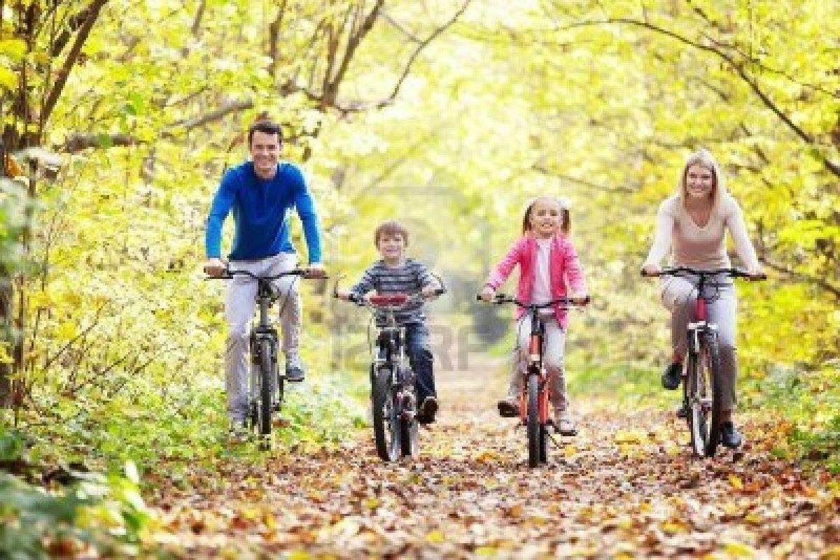 Time to adjust to the clocks going forward, family in the park on bicycles%, uncategorised, new-dad%