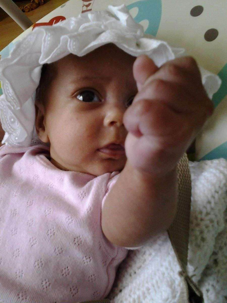 Raising a fist to show support for premature babies