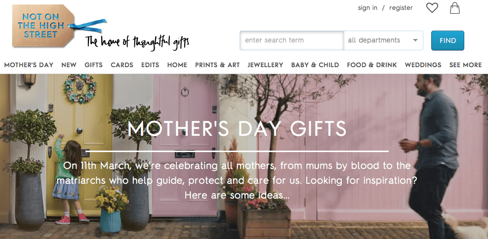 Mother's Day Gift Guide for Not on the High Street, Screen Shot 2018 03 08 at 14.37.47%, daily-dad, love-and-relationships%