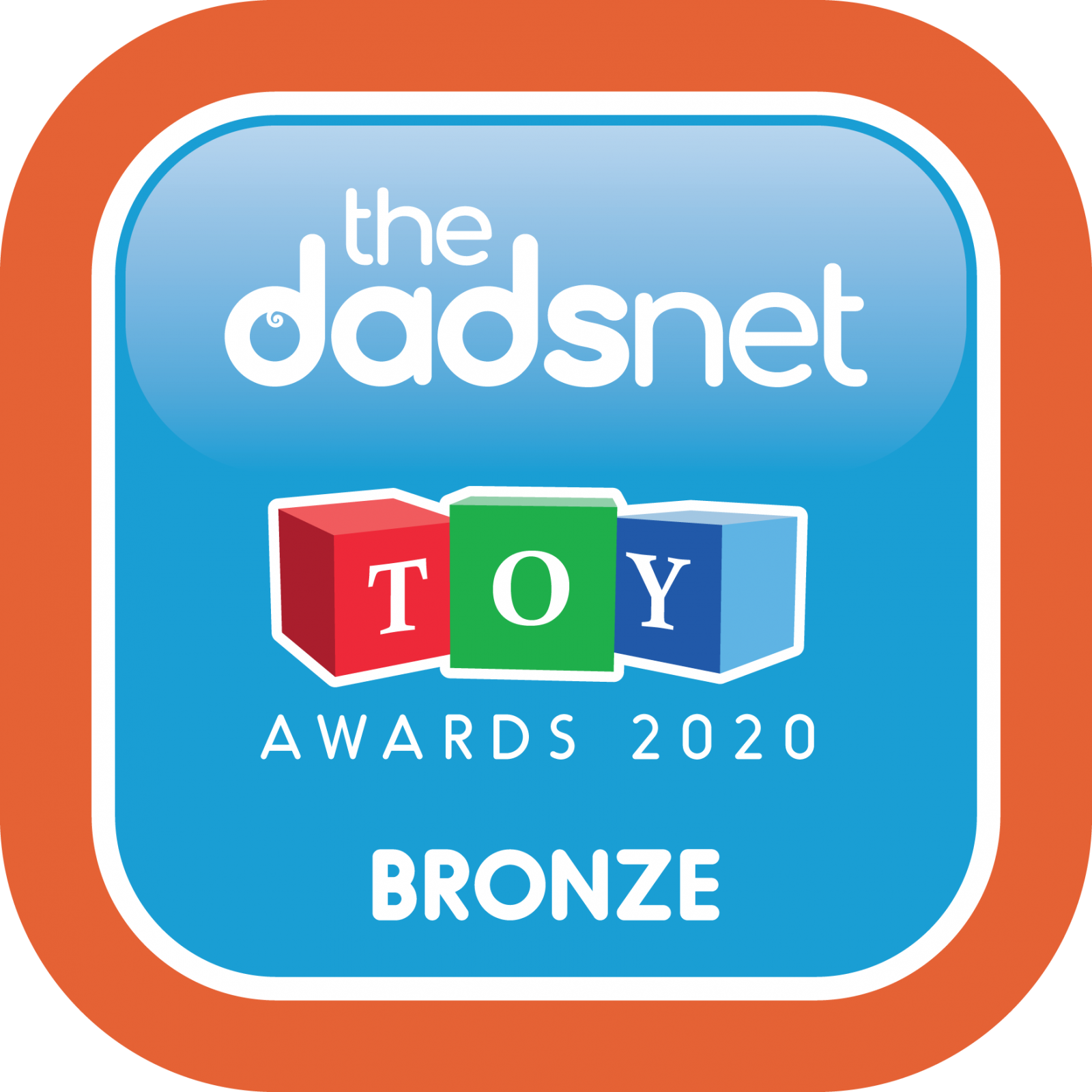The Dadsnet Toy Awards - Badge Downloads, TDN Toy Award 2020 Bronze 1600x1600%, %