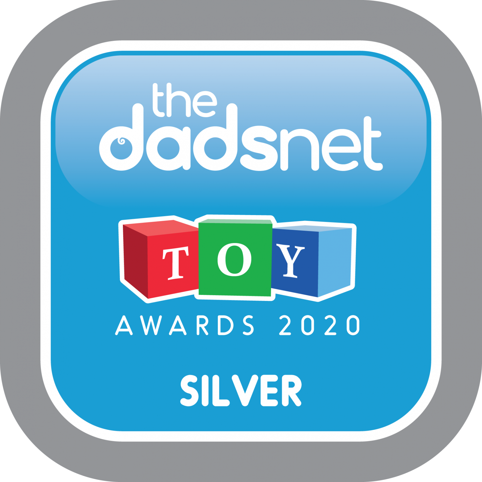 The Dadsnet Toy Awards - Badge Downloads, TDN Toy Award 2020 Silver 1600x1600%, %