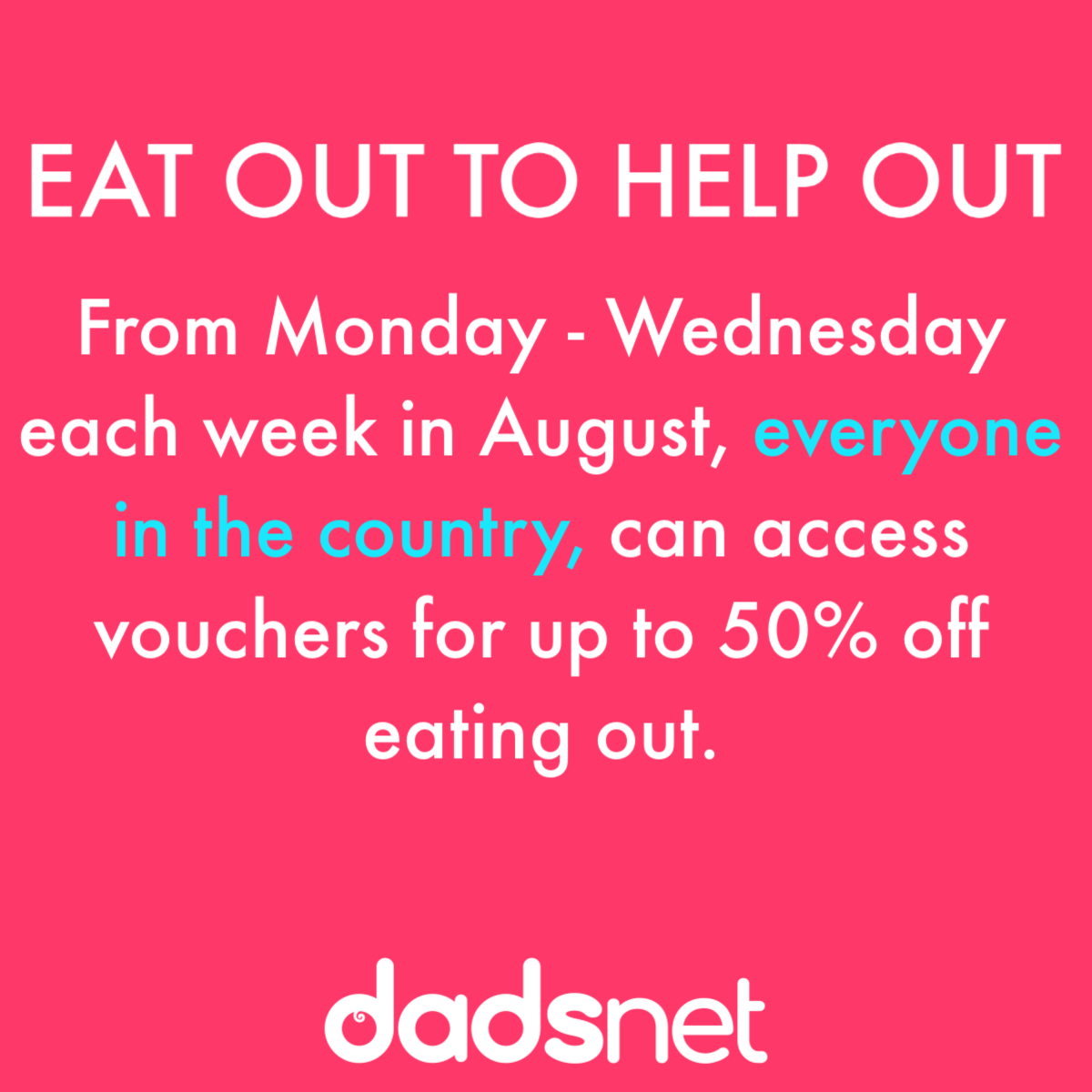 How 50% Eat Out to Help Out discount in restaurant and pub meals will work, Facebook Post 12%, daily-dad%