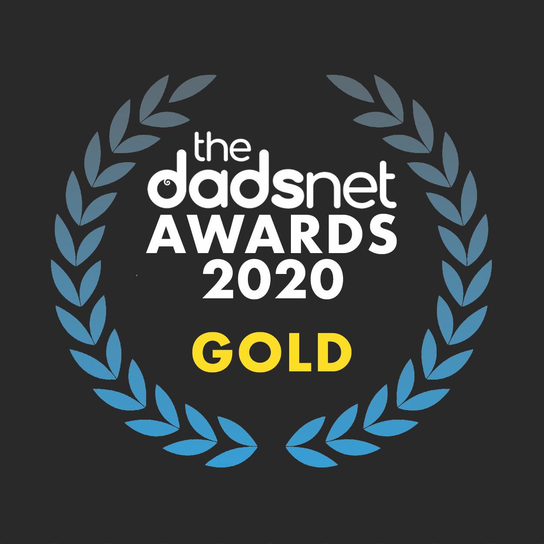Download your hi-res award badge, Dadsnet Product20Awards Gold v02%, %