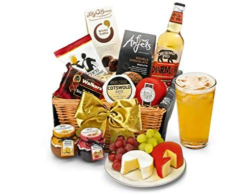 Foodie Father's Day Presents We Love, Downton Hamper With Cider Hand Wrapped Gourmet Food Basket in Gift Hamper Box%, daily-dad%