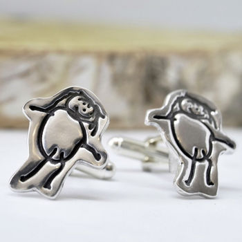 20 presents your Dad wants for Father's Day!, normal personalised artwork cufflinks drawn by your child%, daily-dad, lifestyle, featured%