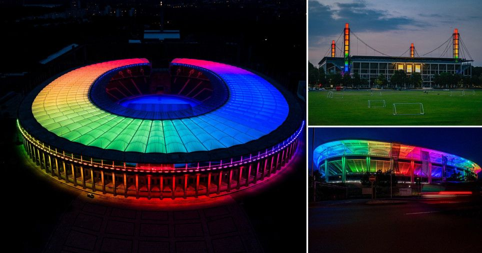 Successes of the 2020 Euro's!, German football stadiums defy UEFA by lighting up with pride colours%, health, featured%