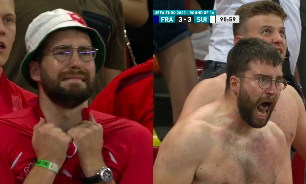 Successes of the 2020 Euro's!, This Switzerland fan turned into the best meme after his teams game tying goal in Euro 2020%, health, featured%