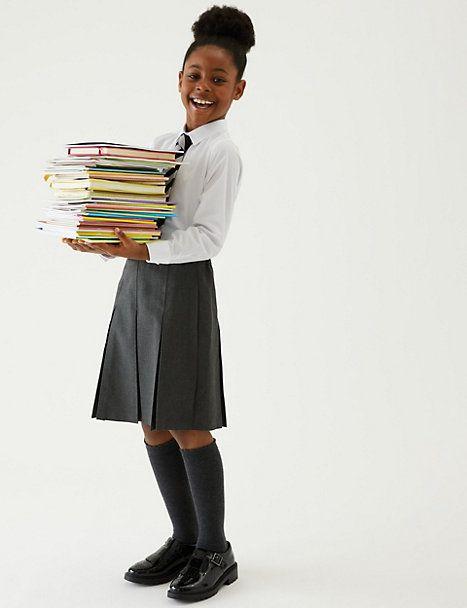 Back to School Uniform for every body shape!, Girls Plus Fit Permanent Pleats School Skirt%, 6-9, 4-5, 2-3, 14-17, 10-13%