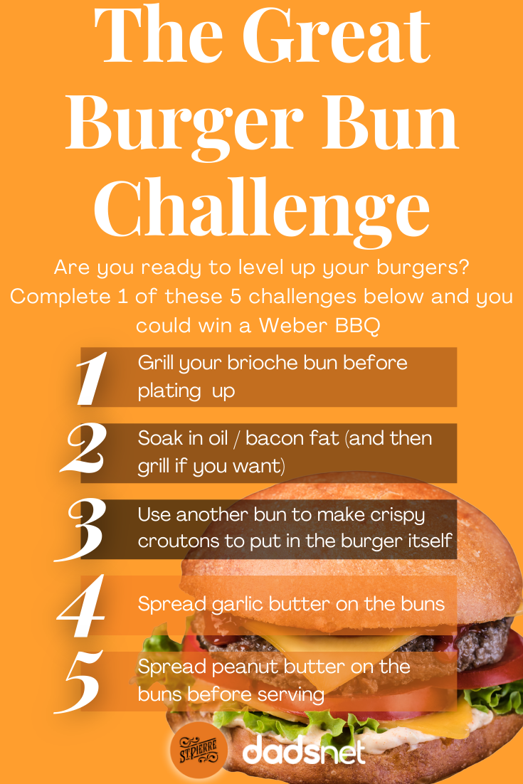 The Great Burger Bun Challenge!, Yellow Egg Background Recipe Pinterest Graphic%, daily-dad, featured, community%