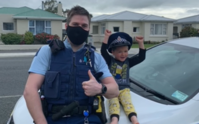 Child calls police in New Zealand to show them his toys